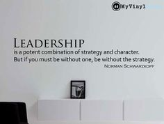 "Norman Schwarzkopf Quote Inspirational Business Quote Wall Decal ""Leadership"" 36x7.4 Inches"