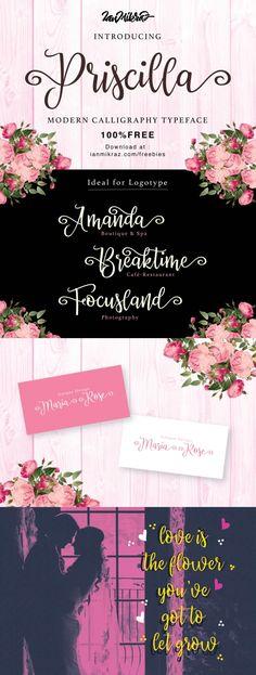 Free Font Priscilla Script