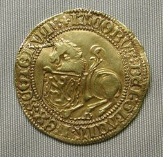Gold Coin Unicorn of James IV of Scotland  (r. 1488–1513)  http://metmuseum.org/collection/the-collection-online/search/211469 …
