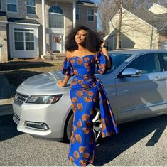 Here are 20 Pictures of Elegant and Simple Ankara Styles any OK tailor can sew. These are easy flowing designs that can be worn to both formal and in-formal events. African Fashion Ankara, Latest African Fashion Dresses, African Dresses For Women, African Print Fashion, African Attire, Latest African Styles, Africa Fashion, African Prints, African Fabric