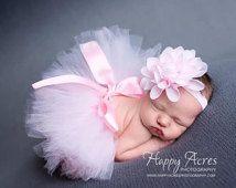 Palest Pink Newborn Tutu and Headband, newborn tutu, baby tutu, newborn photography prop, birthday tutu