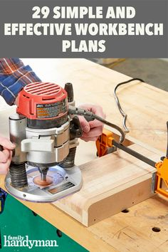 29 Simple and Effective Workbench Plans Easy Woodworking Projects, Woodworking Jigs, Woodworking Supplies, Woodworking Quotes, Rosin Paper, Walnut Shell, Drawer Hardware, Built In Bookcase, Workbench Plans