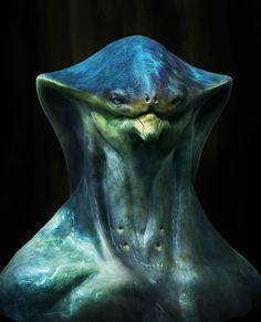 ArtStation - Alien bust, Rodolfo Hernandez