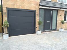 Matching Front & Garage Doors - from one manufacturer www. - Matching Front & Garage Doors – from one manufacturer www. Porch Doors Uk, Garage Doors Uk, Porch Uk, Modern Garage Doors, House Front Porch, Garage Door Makeover, Front Porch Design, Garage Door Design, Modern Front Door