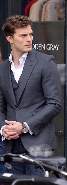 Jamie Dornan as Christian Grey. When is he going to stop looking so drop-dead gorgeous......