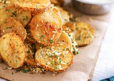Parmesan Roasted Potatoes are just another one of my Easy Family Dinner Ideas that are simple to make. If you need easy side dishes this one is perfect.