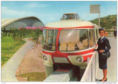 The monorail transport system in Turin was built by Alweg in the capital of Piedmont in 1961 , for the occasion of the International Labour Exhibition and celebration of the centenary of the unification of Italy.   Pin research by scann R https://it.wikipedia.org/wiki/Monorotaia_di_Torino