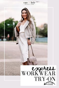 Visit here to check out these workwear outfit ideas for spring and summer on cute & little! If you are looking for workwear capsule wardrobe business wear ideas, then this is the blog post for you! Get inspired by this workwear pieces for women at the office for summertime. You can wear these business casual workwear pieces as you work from home this summertime. Learn how to build your work from home wardrobe this Spring with these key pieces. #wardrobe #workwear #outfitideas Casual Fashion Trends, Summer Fashion Outfits, Edgy Outfits, Work Outfits, Spring Summer Fashion, Business Casual Outfits For Work, Business Wear, Comfortable Fashion, Comfortable Outfits