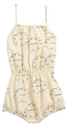 65db6c7aaea4 online shopping for Bobo Choses Clouds Organic Cotton Romper (Toddler Girls