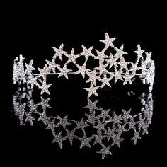 Crystal Rhinestones Star Tiara  Crown Headband Hair Jewelry Accessory