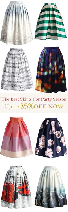 Find your favorite party skirts!