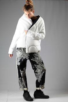 Y's Yohji Yamamoto trousers with Oyuna padded jacket A/W 2014-15