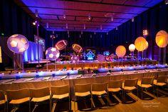 lucite sports ball trajectory centerpiece   Bar & Bat Mitzvah, Wedding & Event Planning   via Magnolia Bluebird design & events