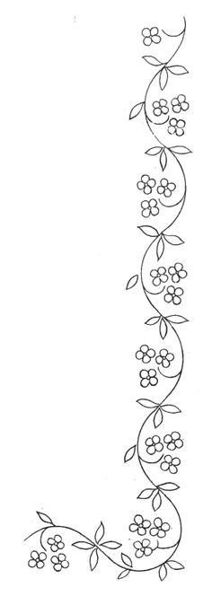 tattoo down spine, arm or waist. or like a belt flower border id… tattoo down spine, arm or waist. or like a belt flower border idea Ribbon Embroidery, Cross Stitch Embroidery, Embroidery Patterns, Border Embroidery Designs, Embroidery Tattoo, Butterfly Embroidery, Simple Embroidery, Lace Ribbon, Flower Applique