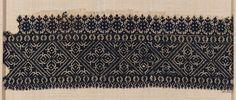 Embroidery      Moroccan   Dimensions      Overall: 16.5 x 46.7 cm (6 1/2 x 18 3/8 in.)  Medium or Technique      Cotton and silk; embroidery  Classification      Textiles   Accession Number      22.231