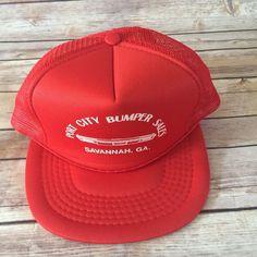 Men s Vintage Red Port City Bumper Sales Snapback Hat Vtg  fashion   clothing  shoes. Men ClosetMen s VintageChristmas 2019Snapback HatsMan ... 75908dcacb4b
