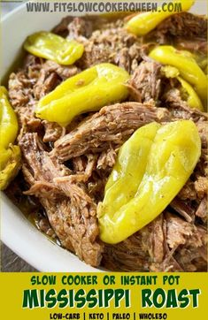 This cleaned up version of Mississippi roast low-carb, paleo, and but not lacking the flavor that made this recipe popular in the first place. Slow Cooker Recipes Australia, Roast Recipes, Crockpot Recipes, Kale Recipes, Dinner Recipes, Turkey Crockpot, Recipies, Crockpot Dishes, Mississippi Pot Roast