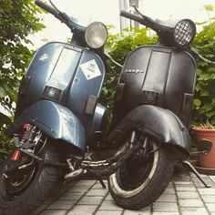 Two of my scooters Vespa Px