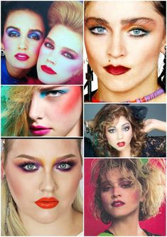 Over 200 ideas of hairstyles for short and long hair of the ideas vo Makeup hairstyles for Hair Ideas annual Short Long over and 1980s Makeup And Hair, 1980 Makeup, Disco Makeup, Retro Makeup, Vintage Makeup, Eye Makeup, Hair Makeup, Madonna 80s Makeup, 80s Costume