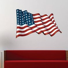 The Holiday Aisle Become inspired every day in a colorful and decorative way with this Wavey American Flag Wall Decal. Apply vibrant wall stickers that will enhance and invigorate any room of your home. Size: H x W American Flag Drawing, American Flag Art, Brown And Grey, Blue Grey, Red And Blue, Name Wall Decals, Wall Stickers, Memorial Day Poppies, Happy Sunday Quotes