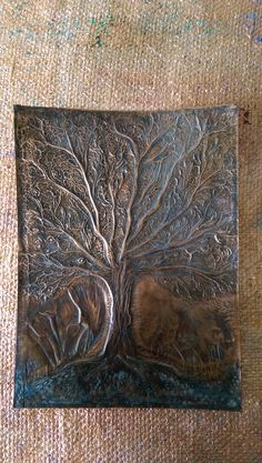 Tree of Life ,work in progress,patina finished.