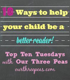 10 Ways to Make Your Child a Better Reader - Our Three Peas Children's Dental, Dental Kids, Dental Health, Summer Activities For Kids, Reading Activities, Literacy Activities, School Classroom, Classroom Ideas, Reading Adventure