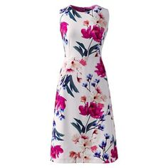 Lands' End Multi digital print welt pocket shift dress- | Debenhams
