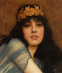 John William Godward (1861-1922), Head of a Girl also known as The Priestess