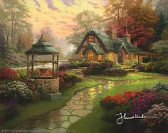 Thomas Kinkade - Make a Wish Cottage  2003