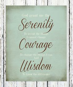 """The """"Serenity Prayer"""" Print Wedding Anniversary Gift, Engagement Couple Gift, Custom colors and font Print Courage To Change, Serenity Prayer, Prayer Verses, Print Fonts, Wedding Anniversary Gifts, Couple Gifts, Engagement Couple, Live Life, Prayers"""