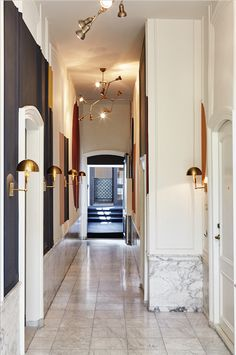 The Hoxton hotel Amsterdam monumental hallways - Interior design by Nicemakers
