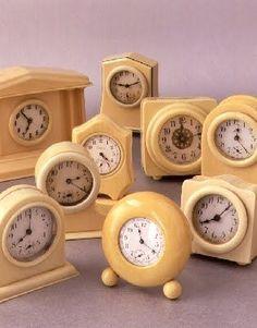 Wonderful gathering of celuloid clocks.