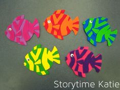 5 little fish Flannelboard Flashback: CSLP 2010 Flannel Board Stories, Felt Board Stories, Flannel Boards, Educational Activities For Toddlers, Preschool Activities, Time Activities, Felt Board Templates, Printable Templates, Underwater Theme