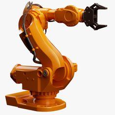 ABB 7600 Industrial Robot 3D Model by Roman Pritulyak, via Behance