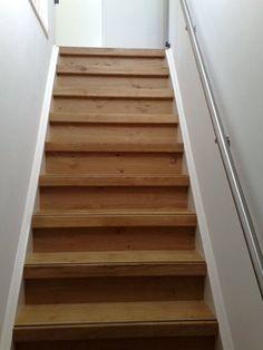 Schrijnwerker gent betonnen trap bekleden hout traprenovatie huis enz pinterest hout trap - Renovatie houten trap ...