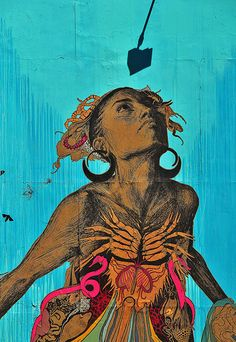 Swoon with Groundswell Murals/Sandy Tribute, Finding Daylight