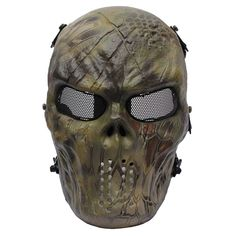 Amazing Tactical Skull Masks with a different kind of painting. These mask can be used while riding your bike, doing paintball or for a simple disguised party. They are full face protection. Airsoft Gas Mask, Airsoft Full Face Mask, Airsoft Helmet, Piercings, Paintball Gear, Skull Mask, Cool Masks, 3d Prints, Tactical Gear