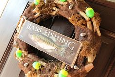 Bass Fishing ALL YEAR ROUND Wreath by TexasGirlCreations4U on Etsy, $95.00