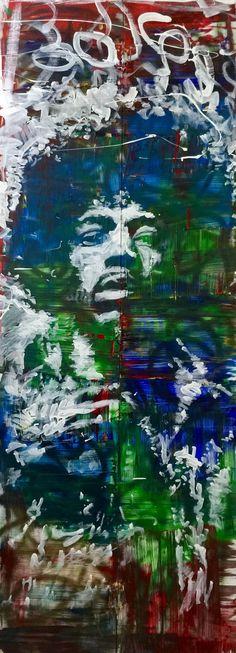 Jimi Hendrix Art Reclaimed Wood Art Wall Hanging by MattPecson
