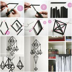DIY Unique Hanging Decorations from Straws  Facebook page: https://www.facebook.com/icreativeideas