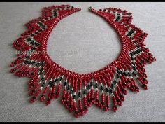 Beaded Flowy Evening Dress Necklace Making - Diy World Beaded Crafts, Handmade Beaded Jewelry, Beading Patterns Free, Beading Tutorials, Beaded Necklace Patterns, Beaded Collar, How To Make Necklaces, Seed Bead Jewelry, Beads And Wire