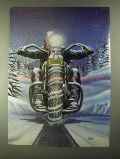 1990 David Mann Illustration - Snow Tire