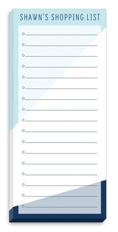 Angled Blue Accent List Notepads