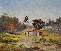 FRANCISCO MANNA - (1879 - 1943)    Título: Paisagem  Técnica: óleo sobre madeira  Medidas: 40 x 48 cm  Assinatura: canto inferior direito