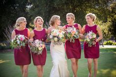 Rustic Chic California Wedding from  Coastside Couture - bridesmaid dresses