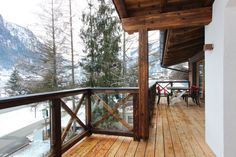 View from balcony Austrian Village, Apartment Design, Lodges, Balcony, Mountain, Industrial, Cabin, Luxury, House Styles