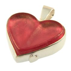 Sterling Silver & Glass Heart Pendant, handmade at Cameron Jewellery by Peter Cameron Coin Purse, Pendants, Jewellery, Sterling Silver, Heart, Winter, Glass, Handmade, Stuff To Buy
