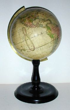 Joslin 10-Inch Table Globe  Boston: c. 1880s