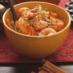 Cari de crevettes | Ricardo Fish Recipes, Indian Food Recipes, Ethnic Recipes, Gluten Free Recipes, Healthy Recipes, Healthy Food, Shrimp Curry, Ricardo Recipe, Seafood