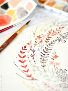 Heart Handmade UK: In The Studio of Eva Juliet   Pretty Paintings and Illustrations from Mon Carnet Blog.